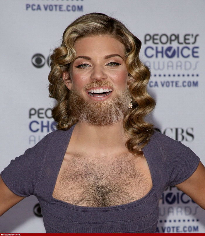 Бородатые женщины-знаменитости: чудеса Фотошопа