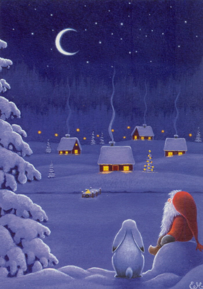 Новогодние иллюстрации Eva Melhuish