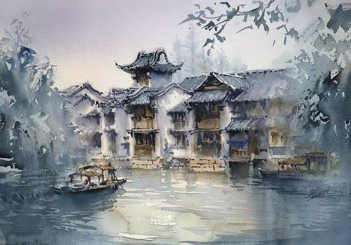 Акварельные путешествия Kwan Yeuk Pang