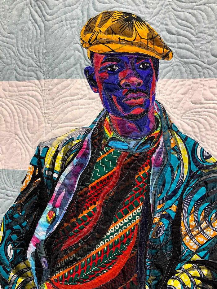 Тканевые портреты Bisa Butler