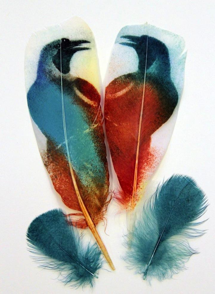 Перышки с рисунками птиц Rebecca Jewell