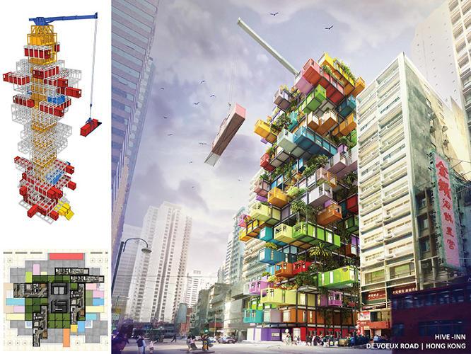 Необычный проект отеля в Гонконге