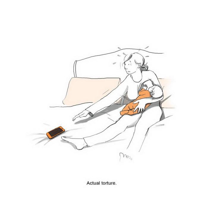 Радости материнства в рисунках Lucy Scott