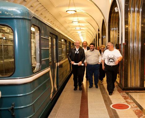 Жан-Поль Готье в московском метро