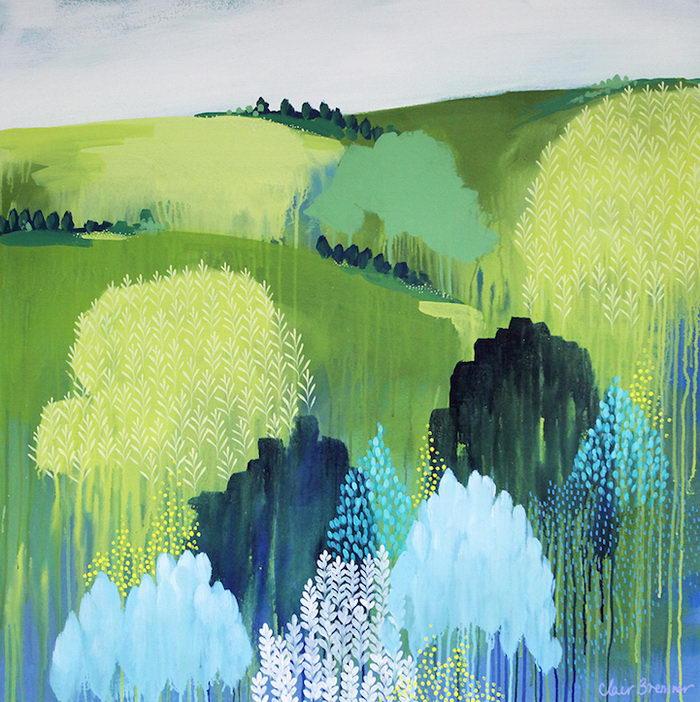 Яркие летние картины Clair Bremner