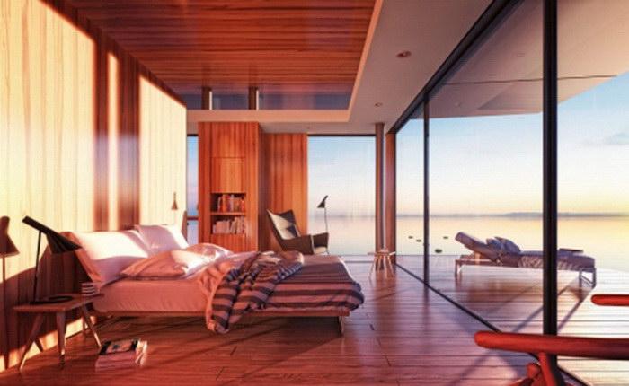 Плавучий домик для отдыха на море