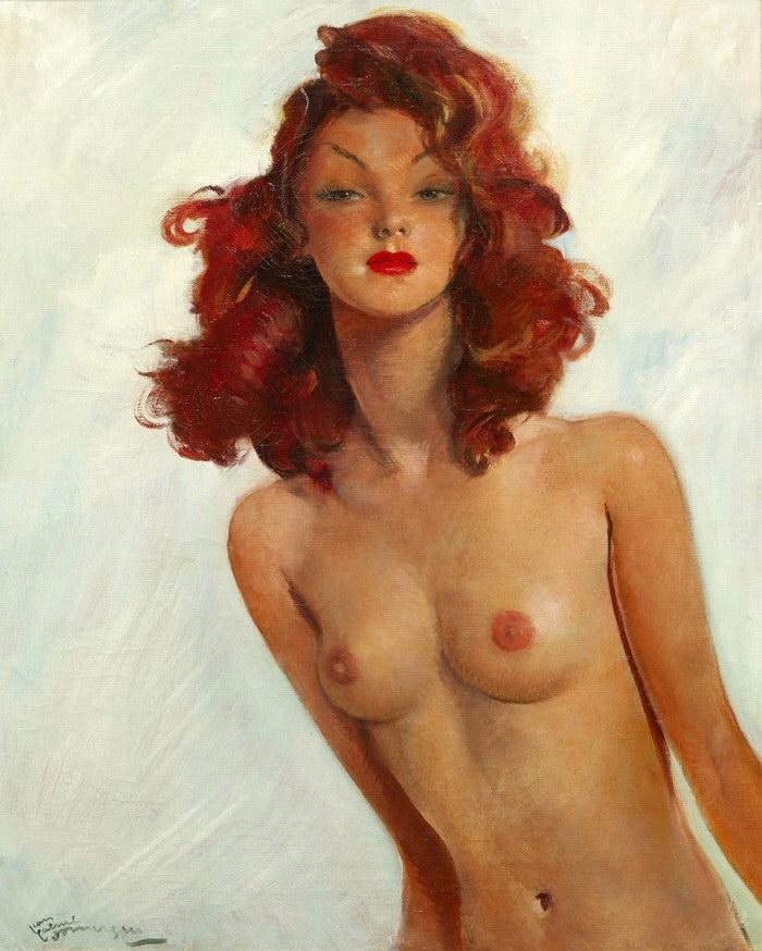 Женские портреты Jean-Gabriel Domergue