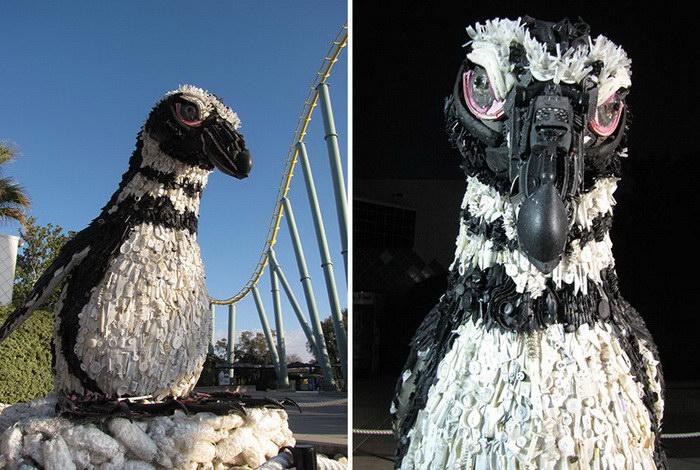 Скульптуры из мусора: красота и грусть