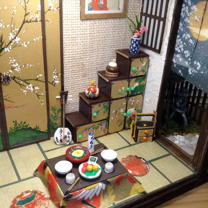 Диорамы японских домов Simon Lo