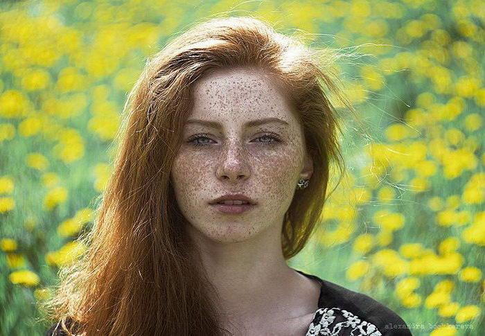 Рыжие девушки и лисицы: фотографии Alexandra Bochkareva