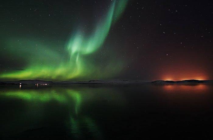 Удивительное зрелище северного сияния