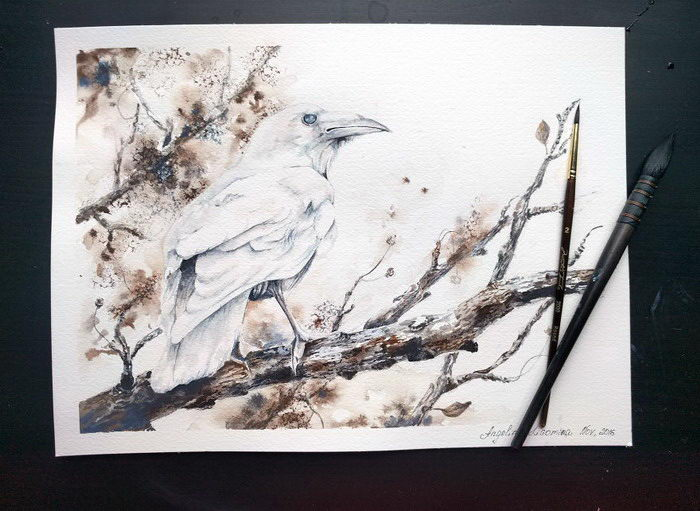 Акварельные птицы Angelina LG