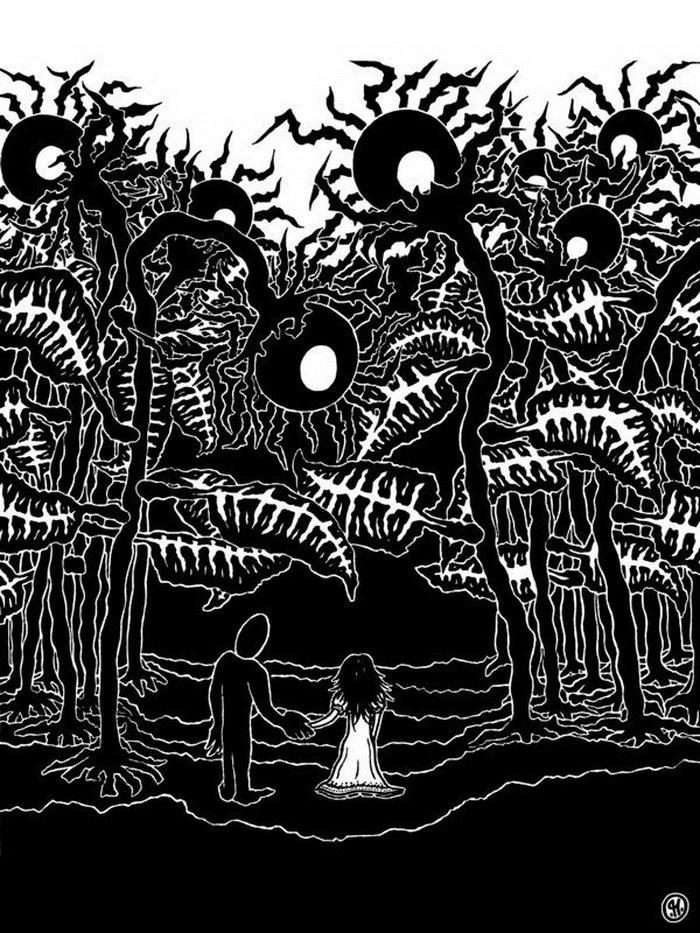 Черно-белые иллюстрации Patrick Honnen