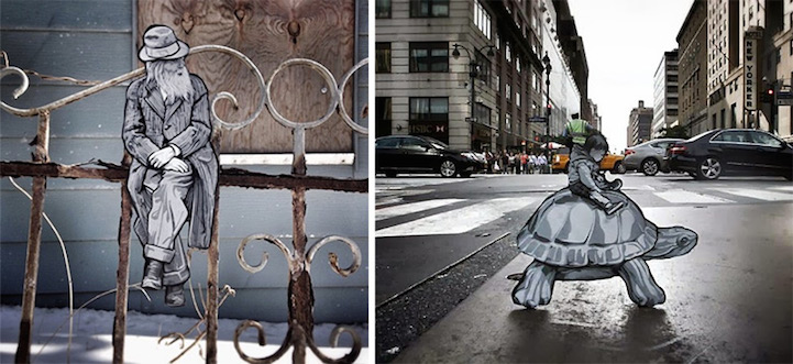 Деревянные фигурки в городе: проект Joe Iurato