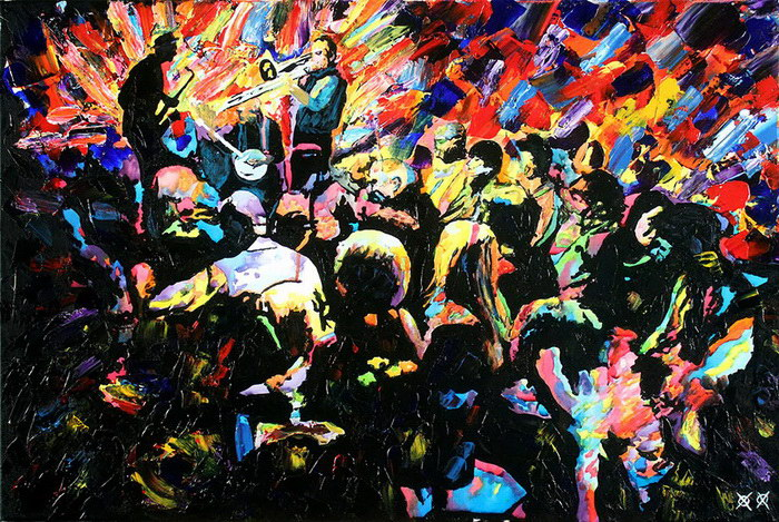 Картины John Bramblitt: слепой художник рисует яркие и необычные сюжеты