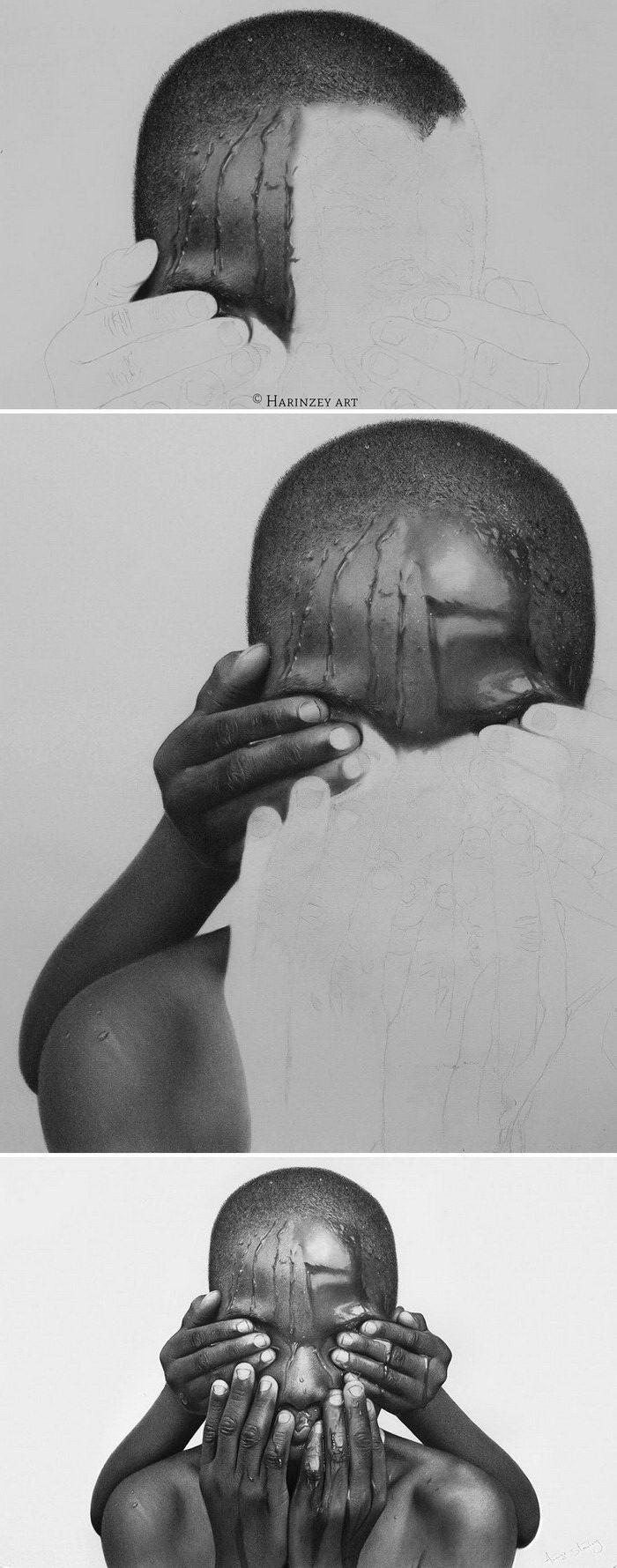 Гиперреалистичные портреты людей Arinze Stanley