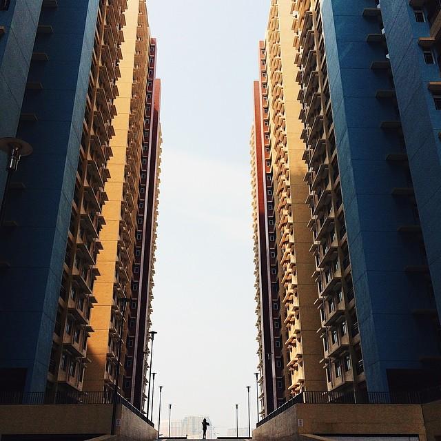 Здания снизу