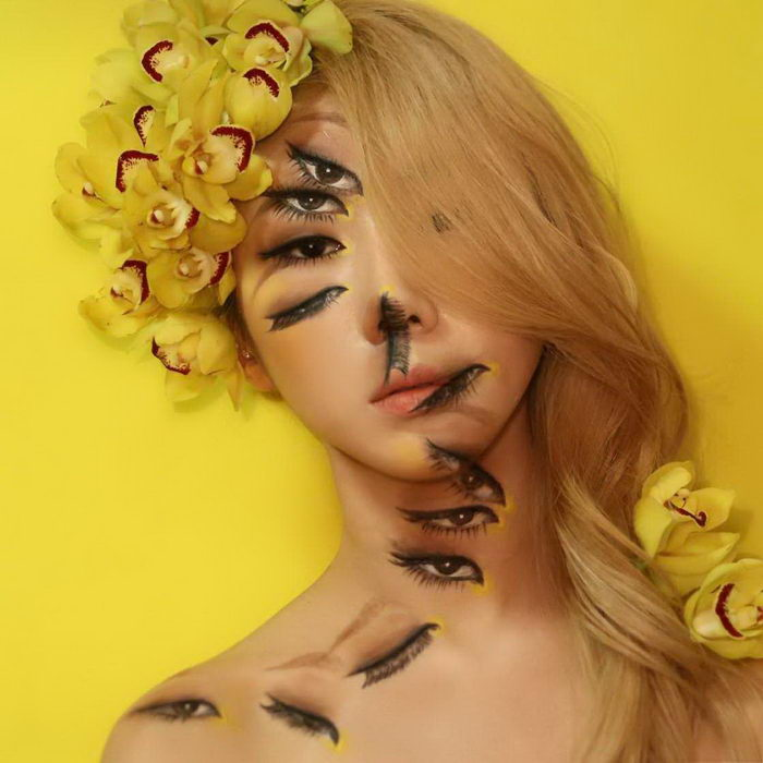 Странные метаморфозы с лицами Dain Yoon