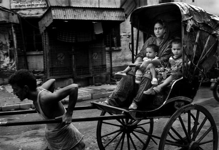 Рикши Калькутты в фотографиях Palani Mohan