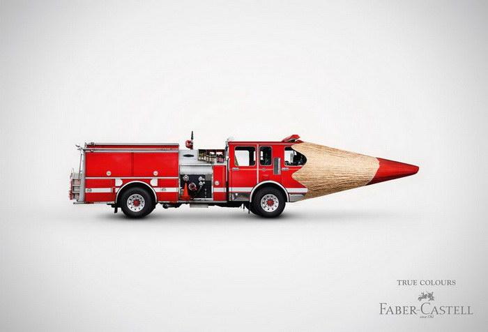 Забавная реклама карандашей Faber-Castell