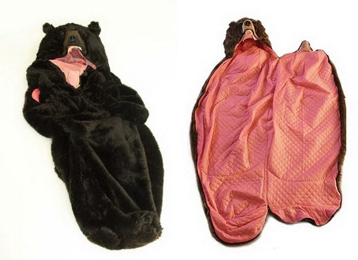 Страшно тепло: спальный мешок в форме медведя