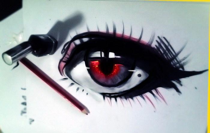 Выразительные рисунки глаз Benjamin Cehelsky