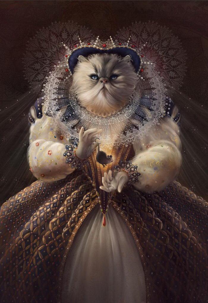 Кошки — исторические личности: портреты Christina Hess