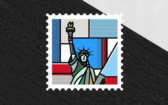 Дизайнерские почтовые марки Mike Karolos