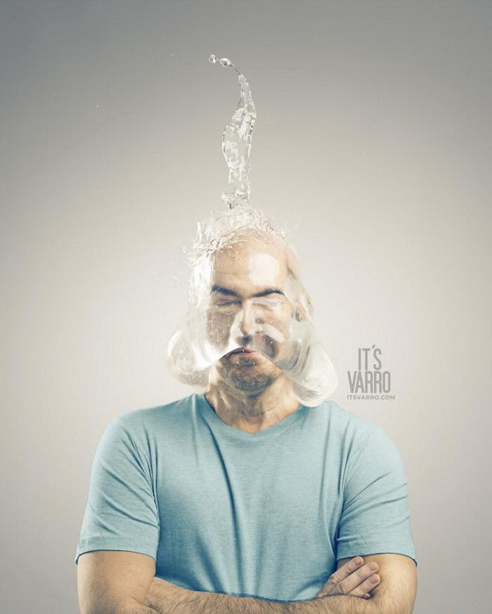 Смешной эксперимент Andreas Varro с наполненными водой презервативами