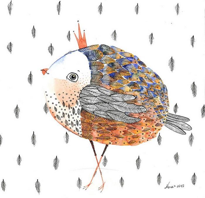 Милые иллюстрации Norvile Dovidonyte