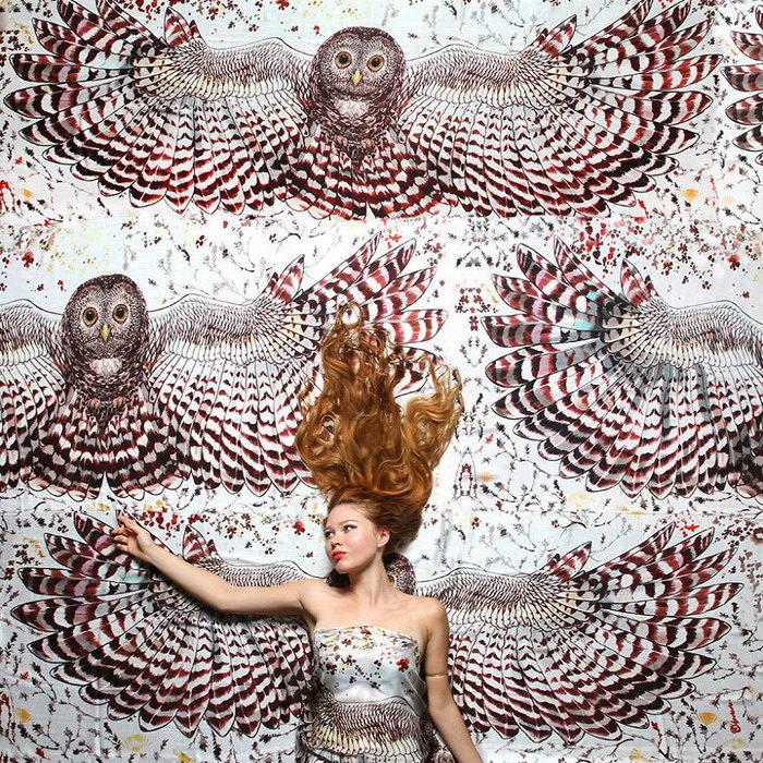 Расписанные платки Roza Khamitova
