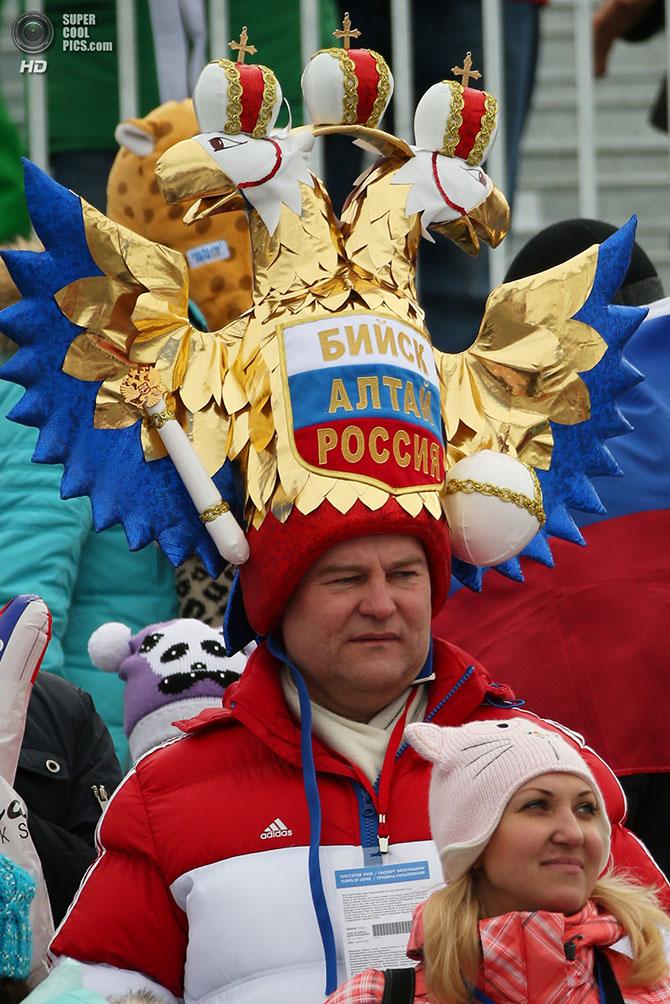 Креативные шапки на Олимпиаде в Сочи