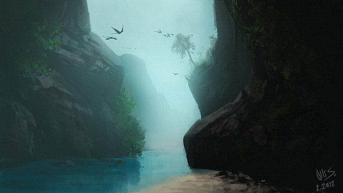 Цифровые пейзажи Olli Siponkoski