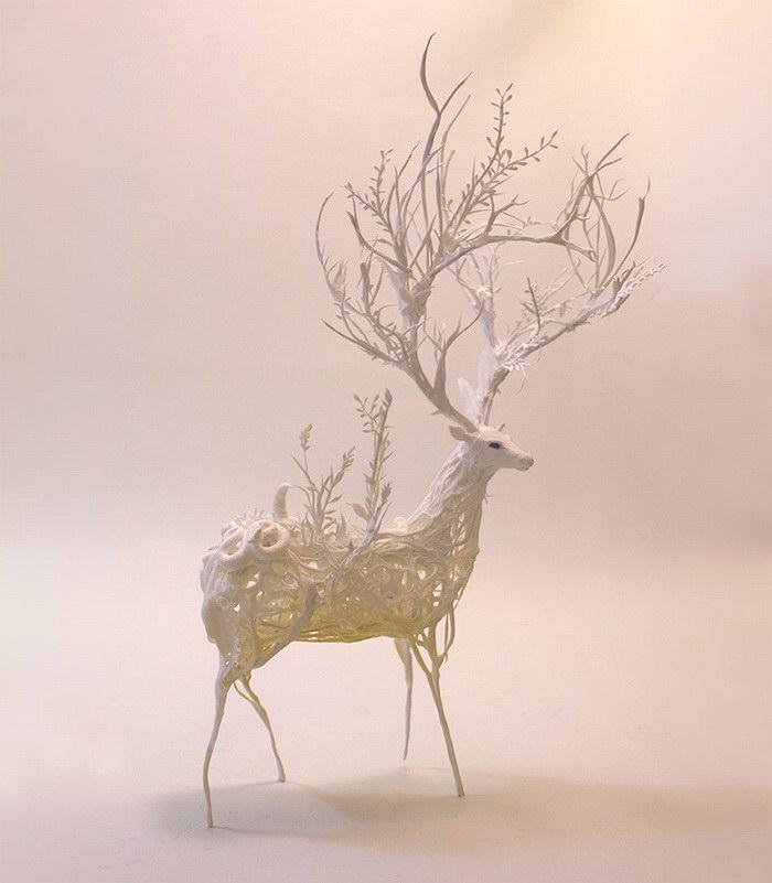 Нежные скульптуры животных Ellen Jewett