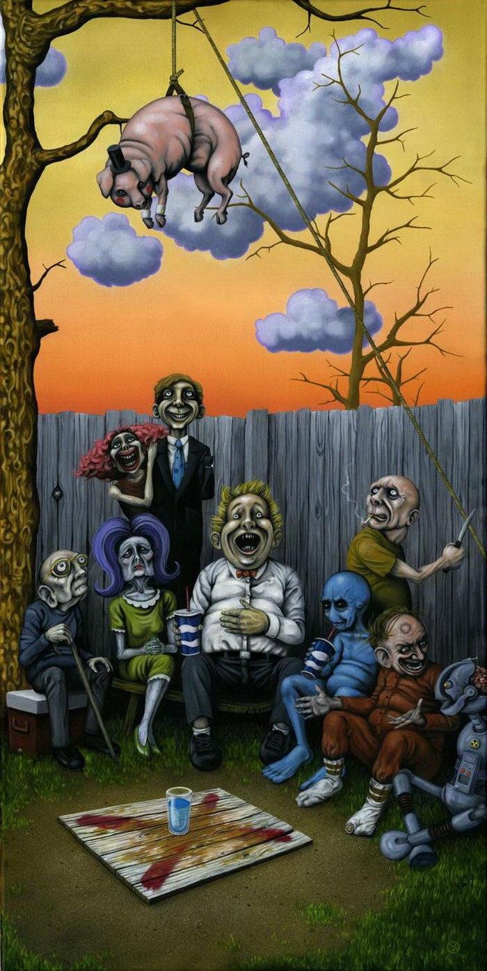 Странные существа на картинах Jeff Christensen