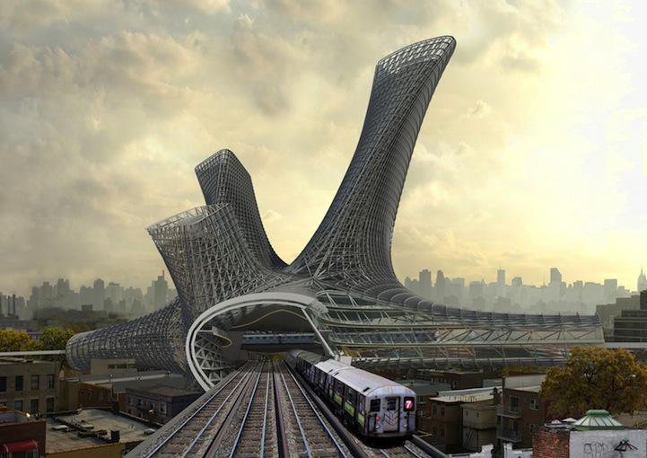 Проект зданий вокзалов компании AMLGM