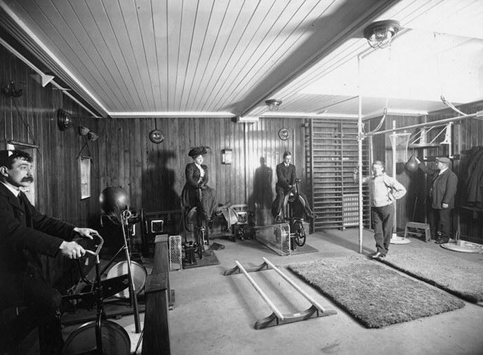 Тренажерные залы на кораблях начала XX века