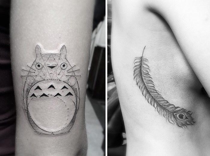 Геометрические татуировки Brian Woo