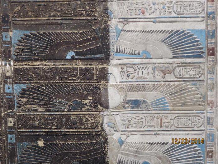 Прекрасно сохранившийся храм Хатхор в Египте