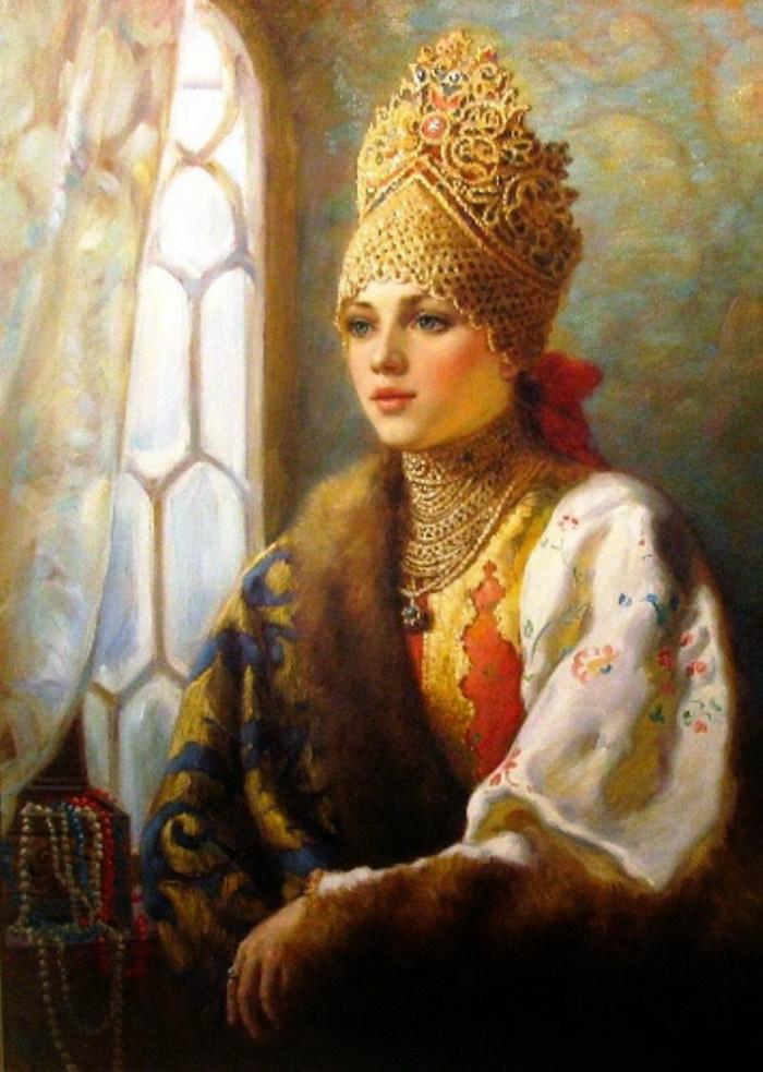 Русские девушки на руси фото