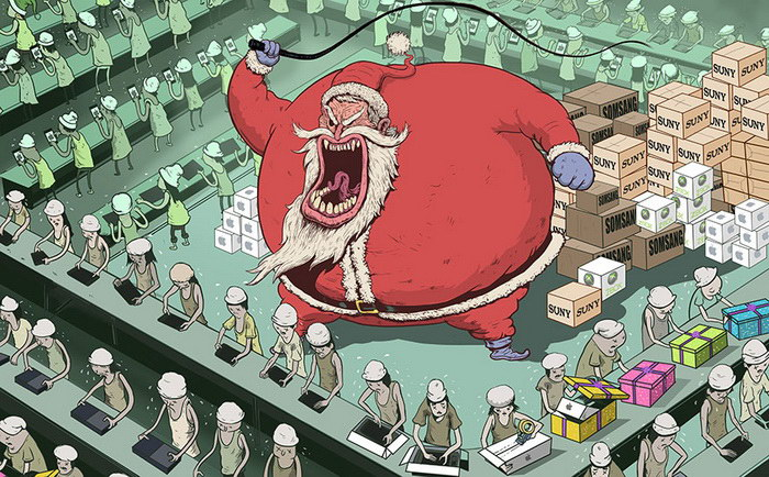 Грустные иллюстрации Steve Cutts о современном мире