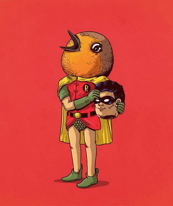«За маской»: серия иллюстраций Alex Solis