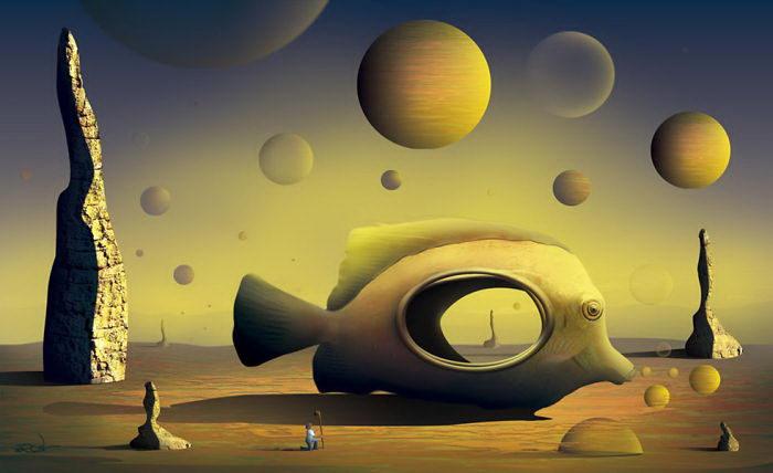 Картины Marcel Caram, вдохновленные полотнами Дали