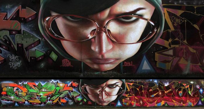 Граффити в Стокгольме: работы Yash