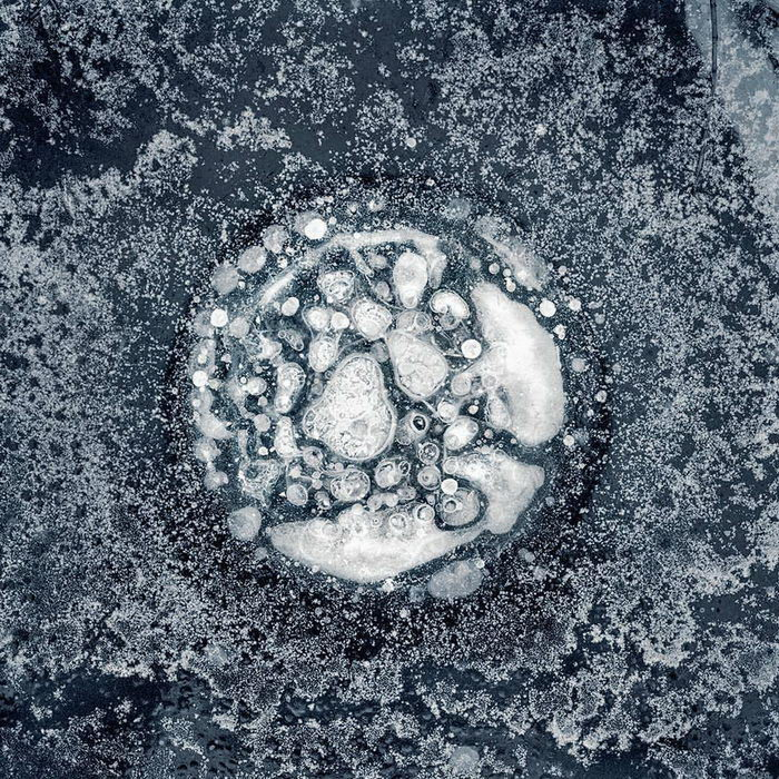 Структура льда на Аляске: фото Ryota Kajita