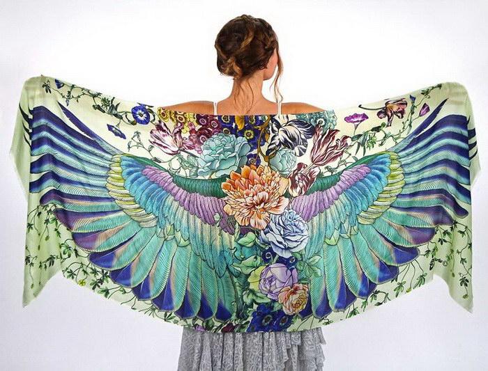 Расписанные вручную платки Roza Khamitova
