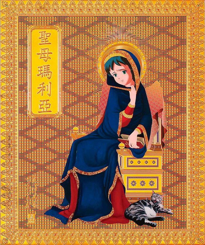 Аниме и иконы: странные работы Hiroshi Mori