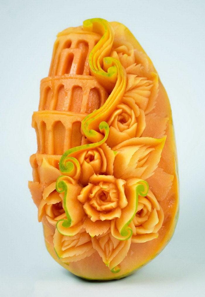 Резьба по фруктам и овощам Daniele Barresi