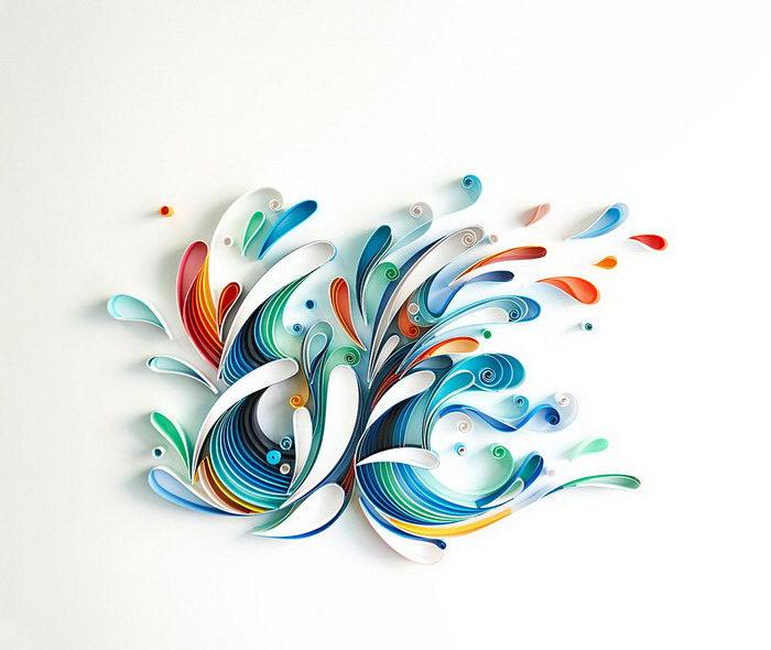 Бумажная типографика Sabeena Karnik