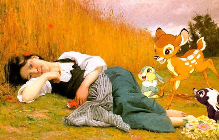 Герои мультфильмов на известных картинах прошлых веков